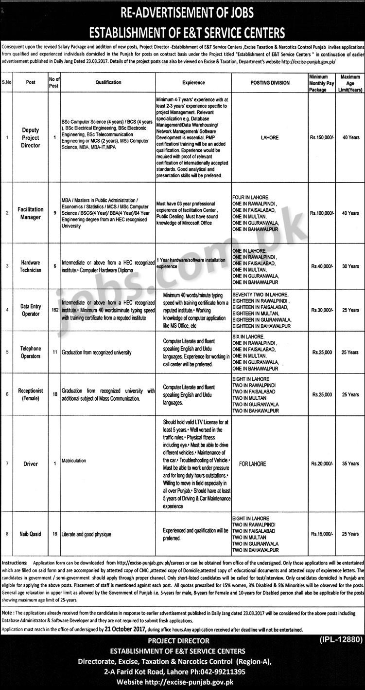 Punjab Excise Taxation and Narcotics OTS Jobs 2019 Test Date Syllabus Paper Pattern