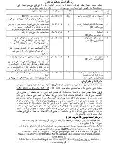 District & Session Judge District Bajaur OTS Jobs 2019 Application form Eligibility Criteria