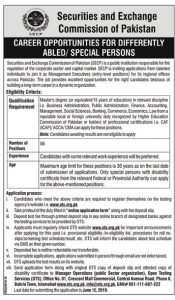 Securities & Exchange Commission of Pakistan SECP OTS Jobs 2019 Application form Eligibility Criteria