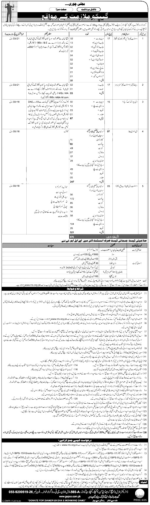 GEPCO Gujranwala Electric Power Company Jobs 2019 Application Form Roll No Slip Download