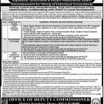Deputy Commissioner Office Nowshera NTS Jobs 2020 Roll No Slip