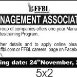 FFBL Management Associates Program NTS Jobs 2020 Roll No Slip