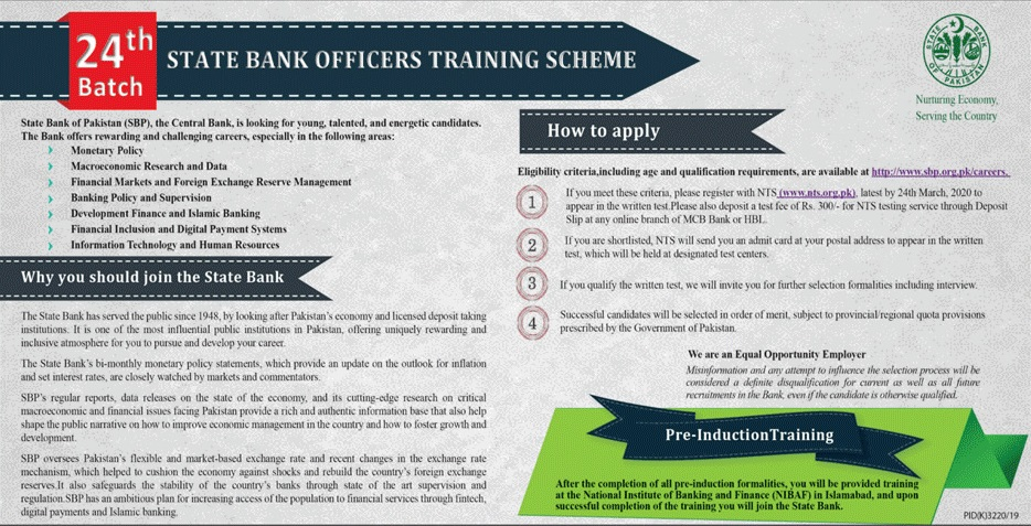 SBP State Bank of Pakistan NTS Jobs 2020 Application Form Eligibility Criteria Roll No slip