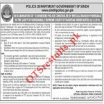 Sindh Police Special Branch Hyderabad 2020 PTS Test Roll No Slip