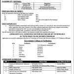 Government College of Technology Peshawar Admission 2020 ETEA Roll No Slip