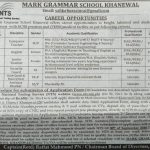 Mark Grammar School Khanewal Jobs NTS Roll No Slip Download Online