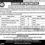 PHC Punjab Healthcare Commission Jobs 2020 NTS Apply Online